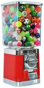 Red Retro 20p Coin Operated Vending Machine 100 Filed Toy Capsules Included