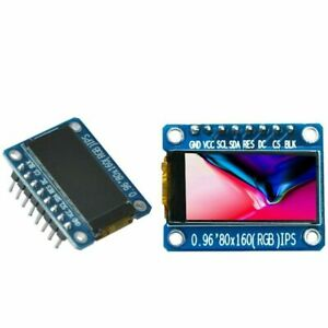 0 96 Inch Ips Color Lcd Display Module 80x160 St7735 Spi 3 3v For Arduino