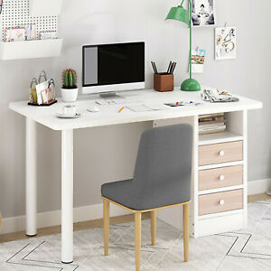 Computer Desk Pc Laptop Table Study Workstation Wood Home Office W shelf Drawer