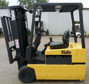 Yale Erp040tg 2001 4000 Lbs Capacity Great 3 Wheel Electric Forklift