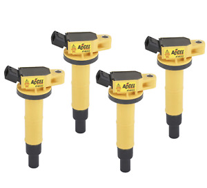 Accel 140333 4 Ignition Coil Supercoil Fits Toyota 2 4l I4 4 Pack Damaged