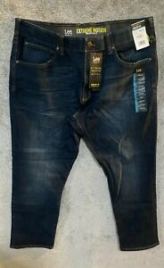LEE Men#x27;s Big amp; Tall Xtreme Motion Athletic Fit Jeans Dark Blue 44x30 Org $74.50 $39.99