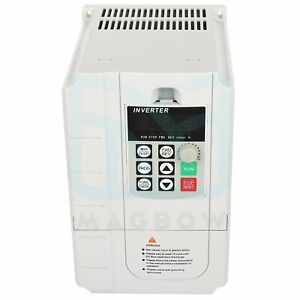 220v 5 5kw Single Phase To 3 Phase Variable Frequency Drive Speed Control