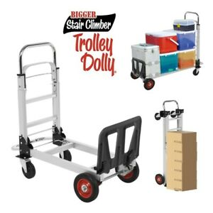 330 Lbs Aluminium Luggage Cart Folding Dolly Push Truck Hand Collapsible Trolley