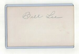 BILLY LEE INDEX CARD SIGNED 1915 16 ST LOUIS BROWNS PSA DNA CERTIFIED 1894 1984 $17.00