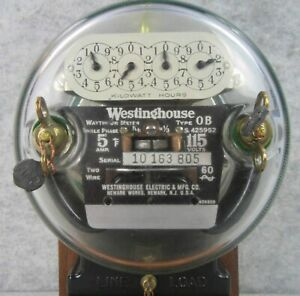 1920s Operating Westinghouse Electric Watthour Usage Meter Lamp Light W Papers