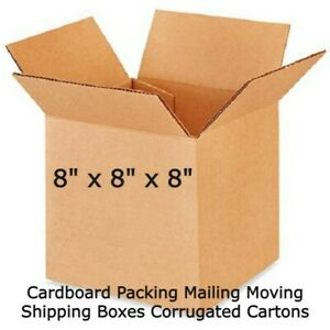 8x8x8 Cardboard Packing Mailing Moving Shipping Boxes Corrugated Cartons Ebay Us