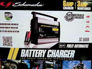 Schumacher battery Charger Sc 600a Speed Charger 6v 12v Fully Automatic