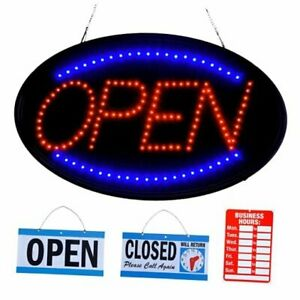Led Open Sign For Business 23 X 14 Inch large Size Open Sign Neon Open