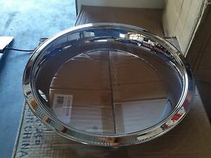14x7 Chrome Over Stainless Deep Trim Rings