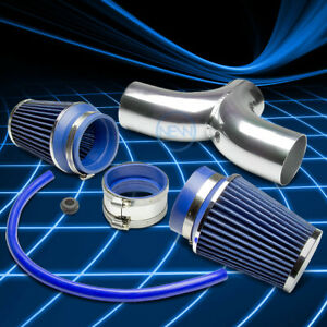 Dual Twin Short Ram Air Induction Intakefilter Kit For Corvette C5 Ls1 Ls6jeep