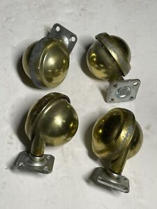 Lot Of 4 Vintage Shepherd Vintage Ball Caster With Top Plate Connect