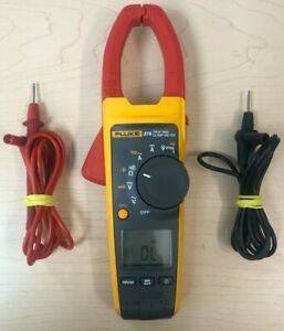 Fluke 376 True Rms Clamp Meter With Leads No Case Works Great Good Shape