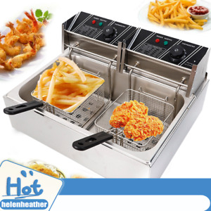 5000w 12l Electric Deep Fryer 1 Tank Commercial Restaurant Stainsteel