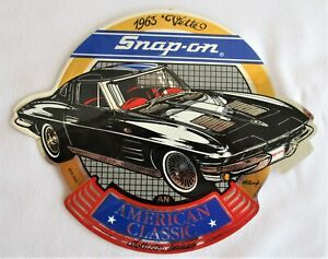 Snap On Tools American Classic 1963 Corvette Foil Sticker Decal