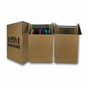 Uboxes Space Savers Wardrobe Moving Boxes With Hanger 20 X 20 X 34 3 Pack