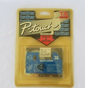 Brother P touch Tz131 Black Print On Clear Tape New Sealed