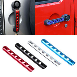Universal Durable Door Handle Cover Decal Parts Accessories For Jeep Wrangler 10