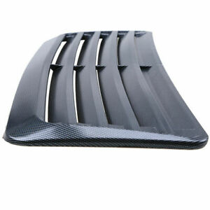 1x Auto Car Fake Carbon Fiber Look Decorative Air Vent Hood Scoop Sticker Cover Fits 2005 Ford Mustang