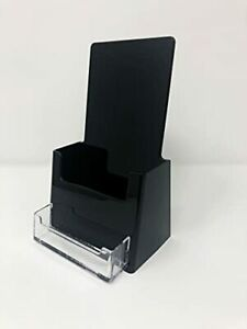 4 Wide Tri fold Booklet Brochure With Business Card Holder Acrylic Counter to