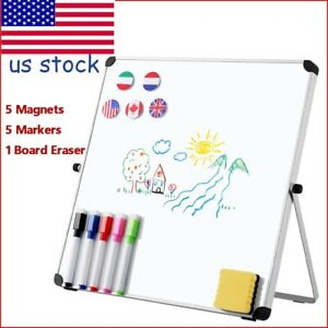 Dry Erase Board Double Sided Magnetic Whiteboard Portable Reversible W Stand Us