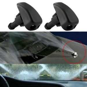 2pcs Set Car Front Windshield Water Spray Wiper Nozzle Accessories Universal