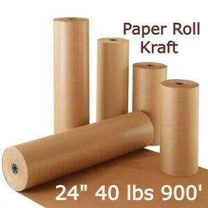 Paper Roll Kraft Brown Wrapping Shipping Packing 24 40 Lb 900 Super Cushioning