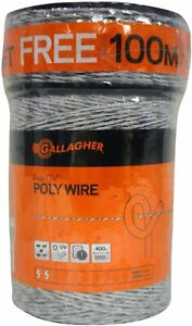 Gallagher Electric Fence Poly Wire Bonus Pack 1312 Ft Plus Free 328 Ft Roll