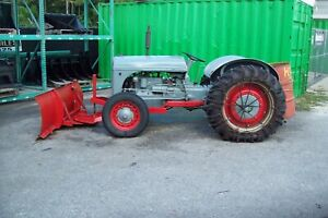 Ford 9n Farm Tractor 1942 W Snow Plow One Owner recent Tires step Down Trans