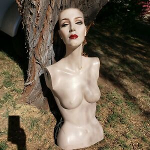 Vintage Adel Rootstein Mannequin Torso Rare Rooted Lashes Flaws