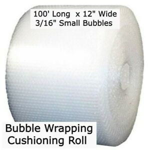 3 16 Bubble 12 Wide Wrapping Cushioning Roll Padding 100 Ft Perf 12 Pocket