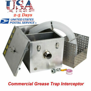 Commercial Kitchen Grease Trap Interceptor Stainless Steel Oil water Separator