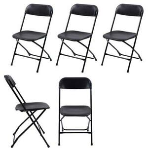 5 pack Wedding Party Event Quality Commercial Plastic Stackable Folding Chairs