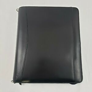 Full Grain Leather Monarch Franklin Covey Planner Binder Retractable Handles