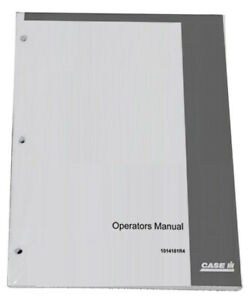 Case Ih 870 Owners Operators Instruction Manual 1