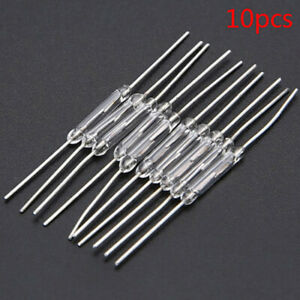 10x 14mm Glass Magnetic Induction Reed Switch Magswitch Normally Open Ny fyuca