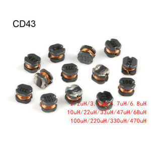 Cd43 Chip Inductors Wire Wound Power Inductors 2 2 3 3 4 7 6 8 10 22 33 330uh