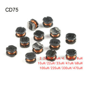 Cd75 Chip Inductors Wire Wound Power Inductors 2 2 4 7 10 22 33 47 100 220 470uh