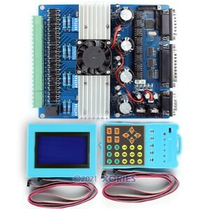 New 4axis Cnc Stepping Driver Tb6600hg Set Lcd Display Handle Controller 0 2 5a
