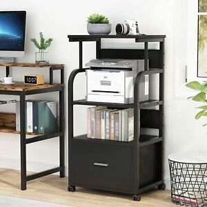 Tribesigns Mobile File Filing Cabinet W Legal Size Drawer For Home Office