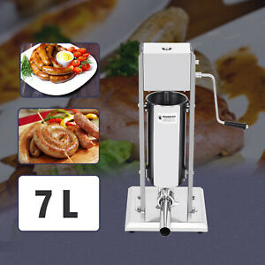 New Sausage Stuffer Vertical Stainless Steel 7l 2 Speed Meat Filler Press Us