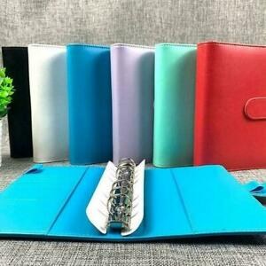 A6 Pu Leather Notebook Binder Budget Planner Organizer 6 Ring Binder Covers O6w1