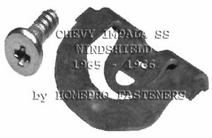 Fits Chevy Impala Ss 1965 1966 Windshield Reveal Mldg Clips Kit 20
