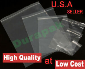 1000 2 Mil 10x13 Clear Zip Reclosable Zipper Lock Seal Poly Bag Industrial Use
