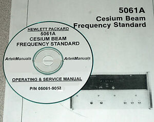Hp Ops Service Manual For 5061a Cesium Beam Frequency Standard early Serials