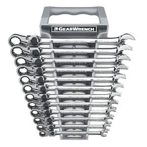 12 Piece Metric Gearwrench Xl Locking Flex Head Ratcheting Wrench Set Kdt85698
