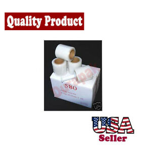 5 1000 Ft Banding Stretch Film Shrink Wrap 12 Rolls W One Dispenser