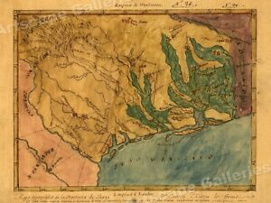 1822 Map Of Texas Territory And Gulf Coast By Stephen F Austin 24x32