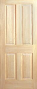 4 Panel Raised Clear Pine Stain Grade Solid Core Interior Wood Doors 6 8 Prehung