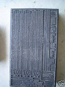 1919 Bills Of Timber Wood Metal Printer Block Phlia